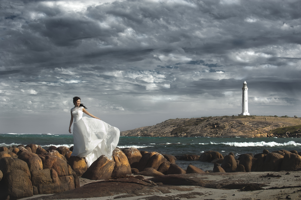 prewedding at perth augusta light house