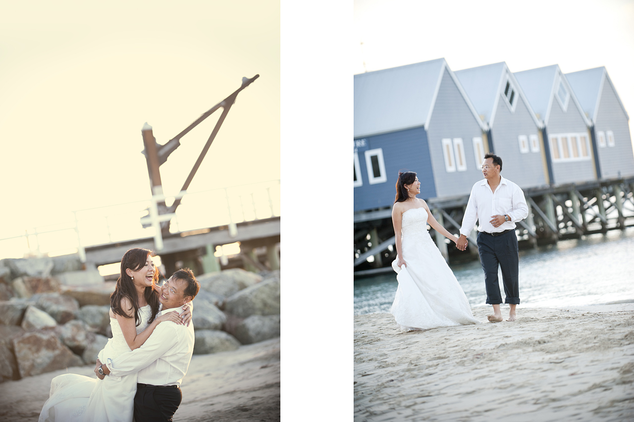 prewedding at perth busselton jetty