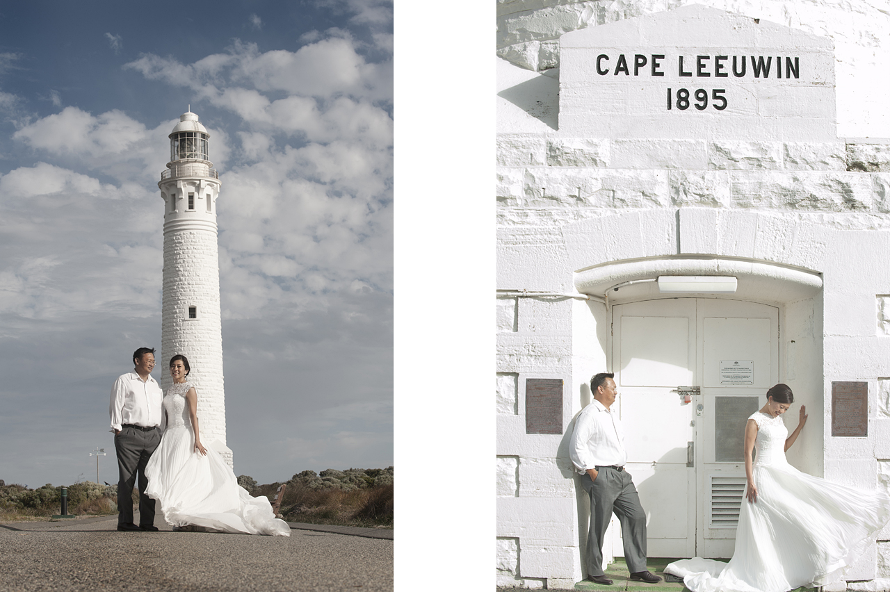 prewedding at perth light house