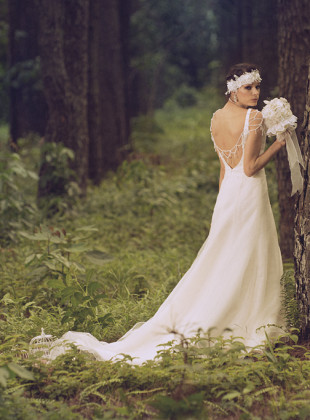 Bohemian inspired wedding gowns