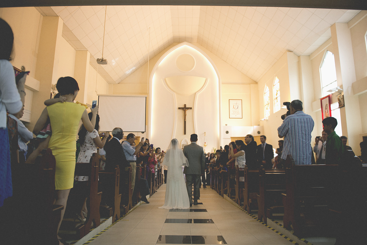 Dino & Joanne church wedding ceremony
