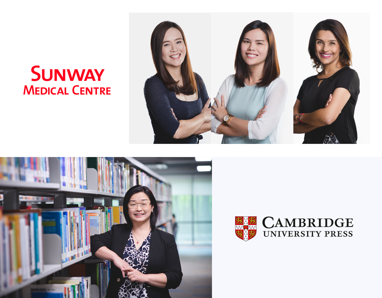 Corporate Portraits for Sunway Medical Centre and Cambridge University Press