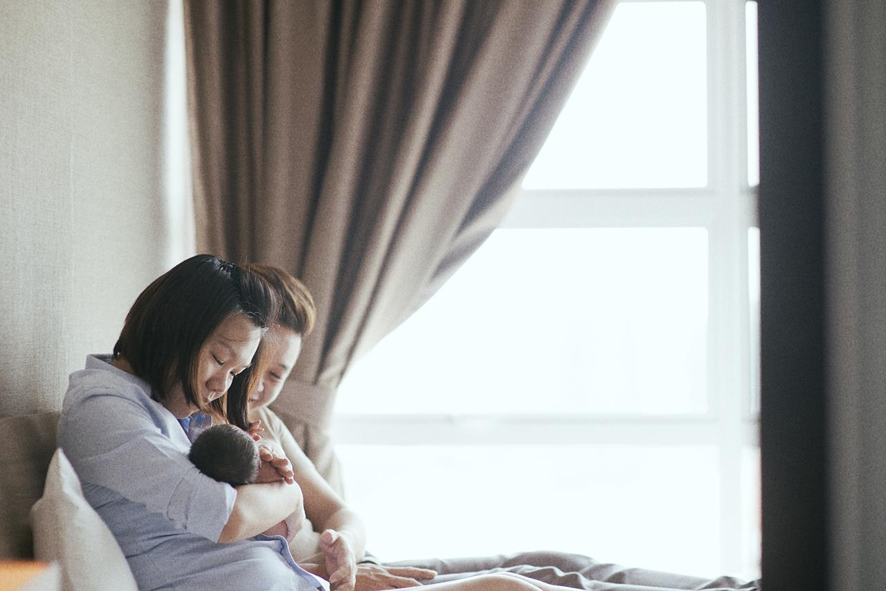 Newborn portrait of Aiden